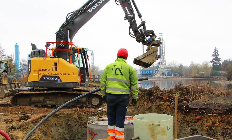Conduites & câbles enterrés  - Nonet - Constructeur d'extérieur