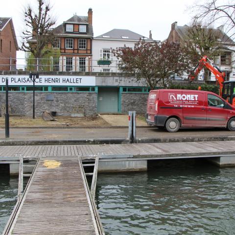 Raccordement électrique et en eau du Port de plaisance de Namur