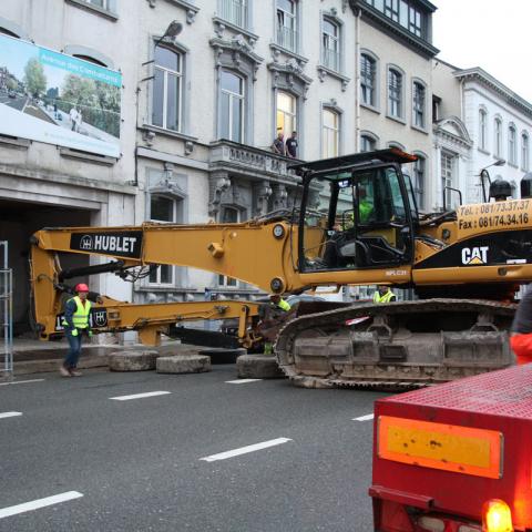 Travaux de démolition au boulevard Mélot