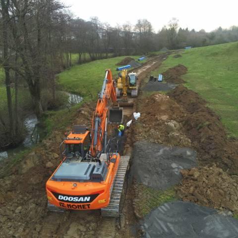 Autoroute de l'eau pour l'INASEP en province de Namur