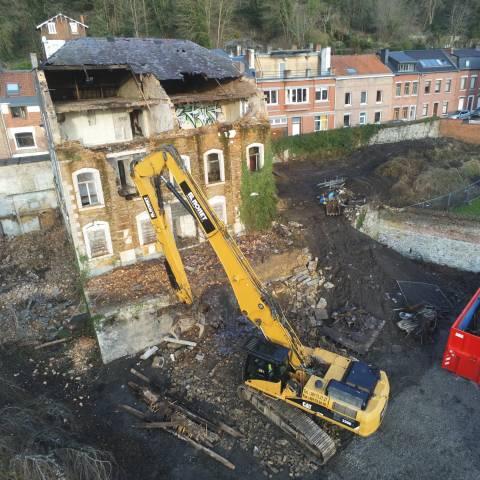 Démolition de la villa Legrand à Namur